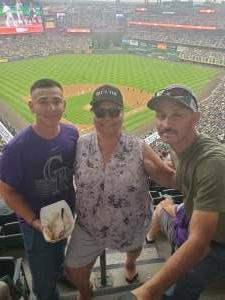 Sally attended Colorado Rockies vs. Milwaukee Brewers - MLB on Jun 18th 2021 via VetTix