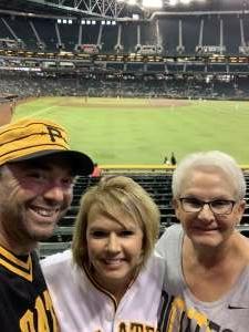 Greg  attended Arizona Diamondbacks vs. Pittsburgh Pirates - MLB on Jul 19th 2021 via VetTix