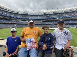 Jose Castillo attended New York Yankees vs. New York Mets - MLB on Jul 3rd 2021 via VetTix