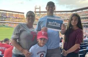 Elhyani  attended Philadelphia Phillies vs. Atlanta Braves - MLB on Jul 23rd 2021 via VetTix
