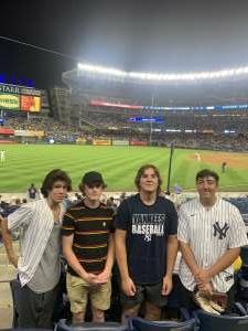 Frank attended New York Yankees vs. Boston Red Sox - MLB on Jul 16th 2021 via VetTix