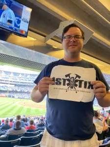 Brian Adams  attended New York Yankees vs. Philadelphia Phillies - MLB on Jul 21st 2021 via VetTix
