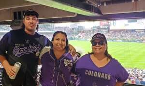 Sally attended Colorado Rockies vs. Seattle Mariners on Jul 20th 2021 via VetTix