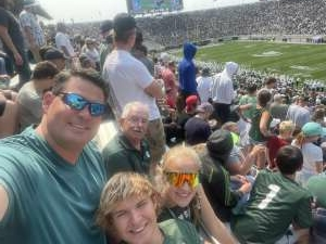 Dave attended Michigan State Spartans vs. Youngstown State Penguins - NCAA Football on Sep 11th 2021 via VetTix
