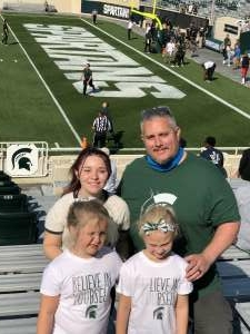 Joshua attended Michigan State Spartans vs. Youngstown State Penguins - NCAA Football on Sep 11th 2021 via VetTix