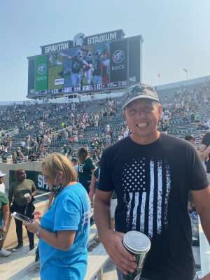 MJ attended Michigan State Spartans vs. Youngstown State Penguins - NCAA Football on Sep 11th 2021 via VetTix