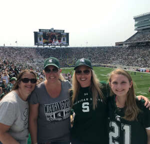 Jen attended Michigan State Spartans vs. Youngstown State Penguins - NCAA Football on Sep 11th 2021 via VetTix