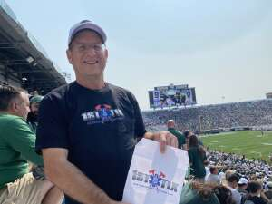 Tim attended Michigan State Spartans vs. Youngstown State Penguins - NCAA Football on Sep 11th 2021 via VetTix