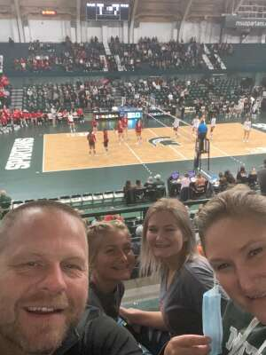 Brandon attended Michigan State University Spartans vs. University of Wisconsin Badgers - Women's Volleyball - NCAA on Oct 15th 2021 via VetTix