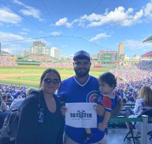 Lopez Family attended Chicago Cubs vs. Pittsburgh Pirates - MLB on Sep 5th 2021 via VetTix