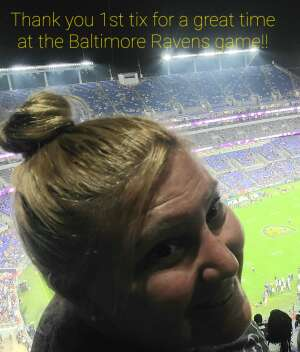 Cherie- De LEO attended Baltimore Ravens vs. New Orleans Saints - NFL on Aug 14th 2021 via VetTix