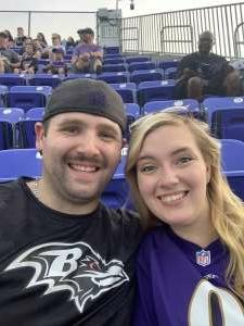 Brian m attended Baltimore Ravens vs. New Orleans Saints - NFL on Aug 14th 2021 via VetTix