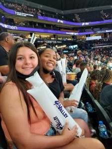Rochelle attended Phoenix Mercury vs. Connecticut Sun on Sep 11th 2021 via VetTix