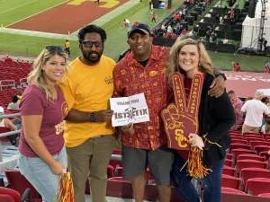 Claire  attended USC Trojans vs. Stanford Cardinal - NCAA Football on Sep 11th 2021 via VetTix