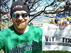 Sean attended Navy Midshipman vs. Marshall - NCAA Football on Sep 4th 2021 via VetTix