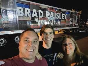 Jason attended Brad Paisley Tour 2021 on Sep 10th 2021 via VetTix