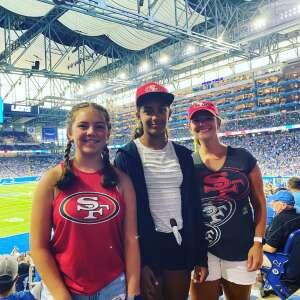 Michael Troup attended Detroit Lions vs. San Francisco 49ers - NFL on Sep 12th 2021 via VetTix