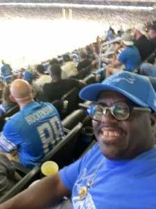 StacyT attended Detroit Lions vs. San Francisco 49ers - NFL on Sep 12th 2021 via VetTix