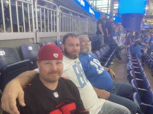 My Father's first Lions game... attended Detroit Lions vs. San Francisco 49ers - NFL on Sep 12th 2021 via VetTix