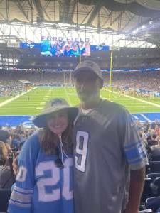Taylor attended Detroit Lions vs. San Francisco 49ers - NFL on Sep 12th 2021 via VetTix