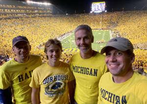 JDF attended Michigan Wolverines vs. Washington Huskies - NCAA Football on Sep 11th 2021 via VetTix