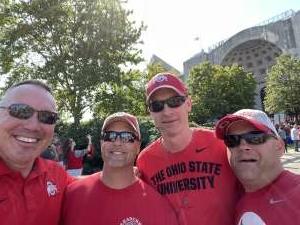 Captain Justin Buehler attended Ohio State Buckeyes vs. Oregon Ducks - NCAA Football on Sep 11th 2021 via VetTix
