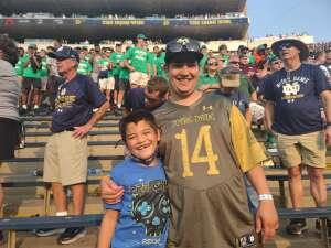 Sarah attended Notre Dame Fighting Irish vs. Toledo Rockets  - NCAA Football on Sep 11th 2021 via VetTix