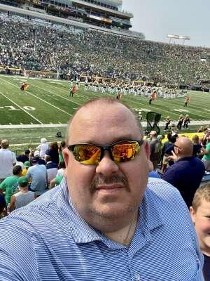 scott rowlison attended Notre Dame Fighting Irish vs. Toledo Rockets  - NCAA Football on Sep 11th 2021 via VetTix