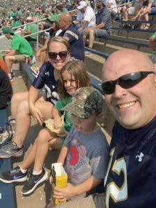 Matt Shiple attended Notre Dame Fighting Irish vs. Toledo Rockets  - NCAA Football on Sep 11th 2021 via VetTix