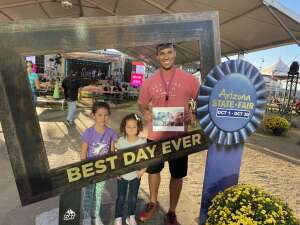 Demetrius Lavant attended Arizona State Fair - Armed Forces Day on Oct 15th 2021 via VetTix