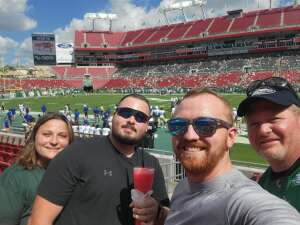 Chris attended South Florida Bulls vs. Tulsa Golden Hurricane - NCAA Football on Oct 16th 2021 via VetTix
