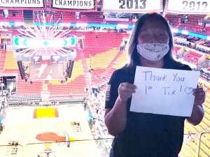 Julia Rombaut attended Miami Heat vs. Charlotte Hornets - NBA on Oct 11th 2021 via VetTix