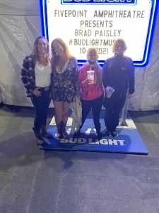 GLORIA  attended Brad Paisley Tour 2021 on Oct 9th 2021 via VetTix