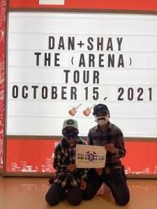 Frank D.  attended Dan + Shay on Oct 15th 2021 via VetTix