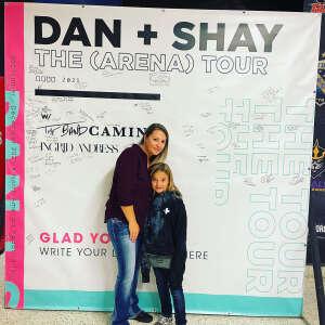 Sarah attended Dan + Shay on Oct 16th 2021 via VetTix