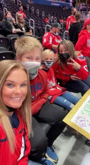 Tara  attended Washington Capitals vs. Colorado Avalanche - NHL on Oct 19th 2021 via VetTix