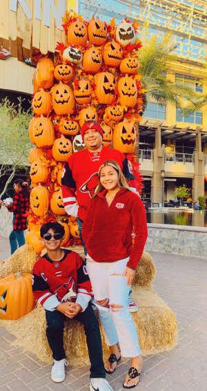 Ramon Contreras attended Arizona Coyotes vs. St. Louis Blues on Oct 18th 2021 via VetTix
