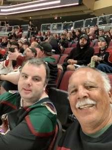 Steve Herrera attended Arizona Coyotes vs. St. Louis Blues on Oct 18th 2021 via VetTix