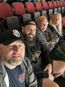 B attended Arizona Coyotes vs. St. Louis Blues on Oct 18th 2021 via VetTix