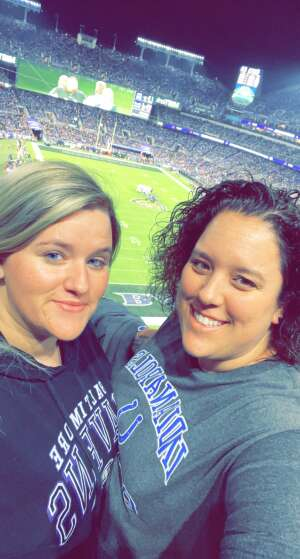 Allison  attended Baltimore Ravens vs. Indianapolis Colts - NFL on Oct 11th 2021 via VetTix