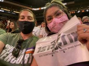 Joy attended Phoenix Mercury vs. Chicago Sky - 2021 WNBA Finals Game 1 on Oct 10th 2021 via VetTix